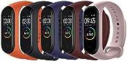 Acalder Compatible con Mi Smart Band 4,5 Piezas Correa para Xiaomi Mi Band 3/4 Pulsera Banda - Silicona Reloj