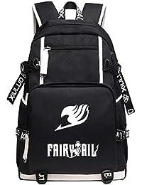 Sacs à dos et sacs de sport AILIENT Unisexe Fairy Tail Sac à Dos en Toile pour Femmes et Hommes Sac à Dos étudiant Sac a Dos Scolaire Sacs à Dos Sports et Plein Air
