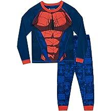 Spiderman Pijamas de Manga Larga para Niños El Hombre Araña