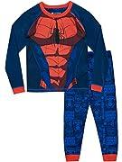Pigiama di Spiderman per bambini. Il tuo piccolo supereroe attraversatore di ragnatele si ritroverà incastrato in questi fantastici pigiamini di Spiderman! I fans di Spiderman semplicemente impazziranno per questi pigiami che ritraggono il su...