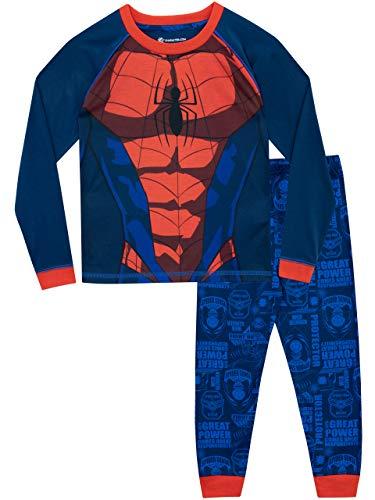 Spiderman Jungen Spider-Man Schlafanzug Blau 110 (Jungen Spiderman Kostüm)