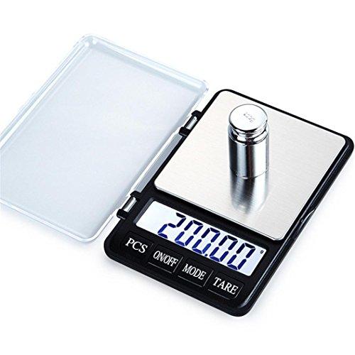 Diadia - Mini báscula digital de bolsillo de alta precisión, joyería con diamante de oro para calibración de monedas, portátil, 600 g/0,01 g función de contador