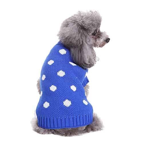 Bluelucon Hundeweihnachts Mantel Haustier Hund in Santa Kostüm-Ausstattungs Anzug Mit LED ()