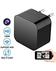 RFV1(tm) 1080P USB Charger Camera Series 1 WiFi – HD Live Streaming Video Camcorder with Motion Detection, Pet Nanny Cam, USB AC Wall Plug Adapter for Phone, Remote View, Support 32GB SD