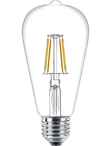 bontek® Tropfen ST64Glühlampe Vintage Edison Filament Beleuchtung Leuchtmittel 6Watt Renaissance Style–E27Schraube Base Warm Weiß–keine dimmbar 2700K
