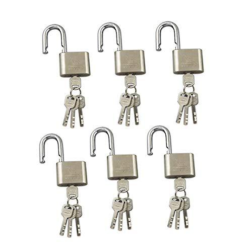 s Silber Eisen Verdicken Rostschutz Diebstahlsicherung Outdoor Warehouse Big Iron Door Drawer Lock (Farbe : Silber, größe : 40MM) ()