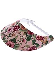 """XFORE visière soleil """"Walney"""" casquette de golf sport tennis pour femmes avec motif floral, taille unique"""