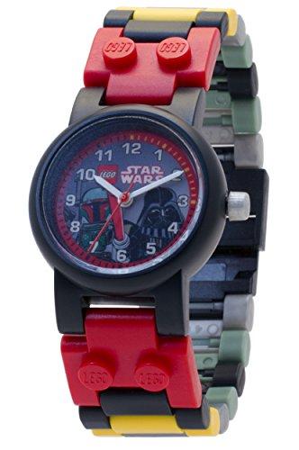 b3181a5b1030 Reloj modificable infantil de Boba Fett y Darth Vader de LEGO Star Wars  8020813 con pulsera