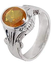 Silverwala 925 Sterling Silver Topaz Birthstone (Scorpio, Sagittarious) Finger Ring for Unisex