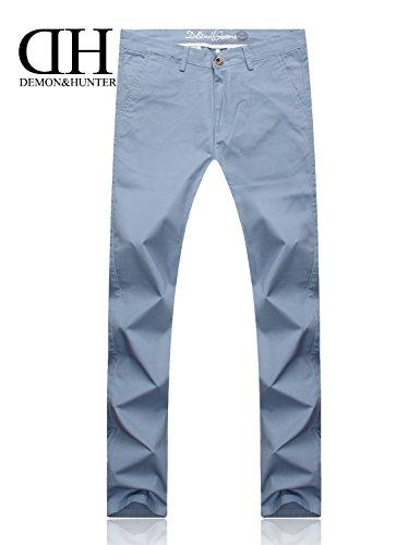 Demon&Hunter 910X Mince-Fit Séries Pour des hommes Extensibles Décontractée Pantalon DH9118 x Bleu pâle