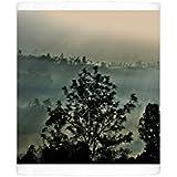 Photo Mug of Early morning fog over a Ceylon tea plantation, Dickoya, Hill Country, Sri