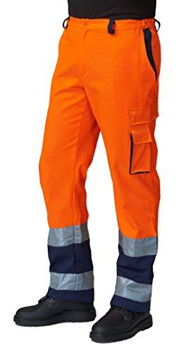 Pantalone da Lavoro SIGGI 69SE0335 Alta VISIBILITA' Arancio con Bande Blu (S)
