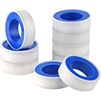 TUPARKA 9 Pcs Thread Tape PTFE Tape Plumbing Thread Seal Tape for Pipe Sealant Plumbers Plumbing, 12mm