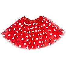 Oblique Unique® Tutu Tütü Damen Frauen Rock Rot mit weißen Punkten als  Kostüm Accessoire für 50e69bf901