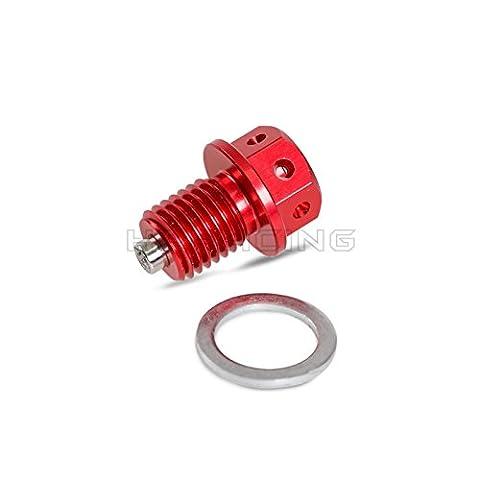 H2Racing Red 12mm Magnetic Oil Drain Plug Bolt for CBR650F/CB650F/CB250F 2014-2015 CB300F CBR300R 2015 NC750S/X VFR800F 2014 RVT1000R RC51 VTR1000SP1/2 2000-2006