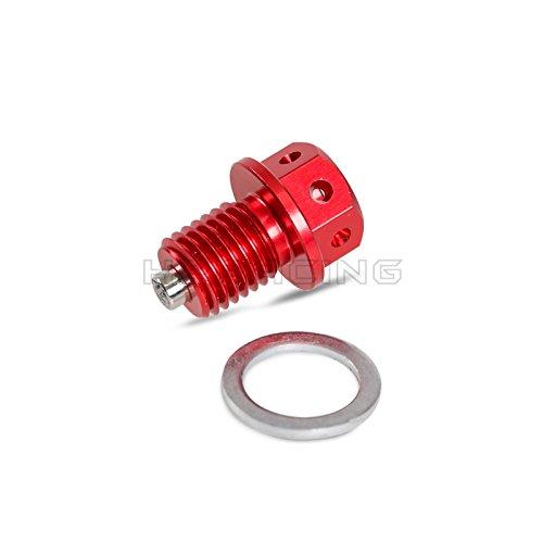 H2Racing Motor Rot M12 x P1.5 Magnetisch Ölablassschraube Schrauben für Yamaha WR250R/WR250X 07-15 YZ426F 00-02 WR400F 98-00 YZ125 YZ250 XT250/X,TTR90 00-01,TTR250 99-06 Tricker 2004-2014 Serow250,Scooter X-Max 125/250