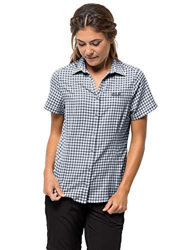 Jack Wolfskin Damen Kepler Shirt Bluse, Ebony Checks, M