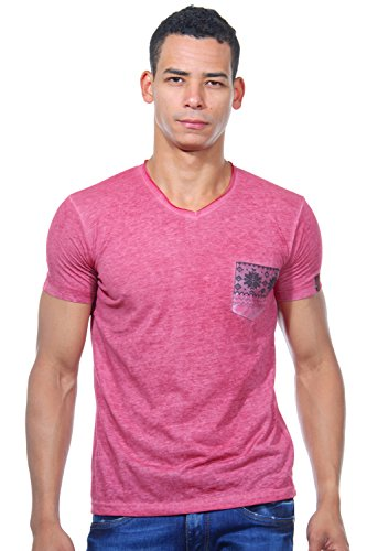 R-NEAL T-Shirt V-Ausschnitt slim fit Bordeaux