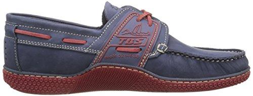 TBS Globek, Chaussures Bateau Hommes Bleu (Encre Rouge)