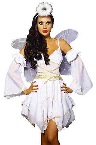Engel-Kostüm - weiß/gold (Engel Gold Kostüm)