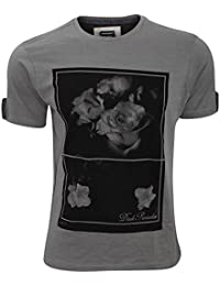 Smith & Jones Herren Lutteridge Dark Paradise Print T-Shirt, kurzärmlig