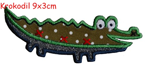 crocodile-9x3cm-iron-on-patches-trickyboo-christmas-decorative-novelty-letter-fabric-trickyboo-embro