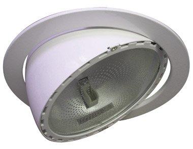 pronetelec Unterputz 150W HQI Rx7s rund alu weiß neigbar bis 30°
