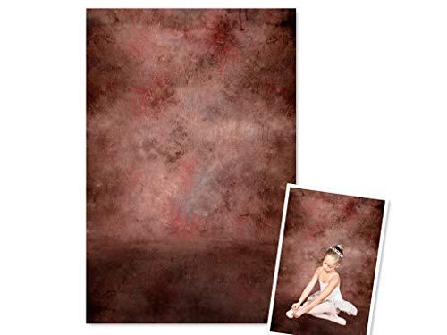 WaW Studio Fotohintergrund Vintage Rot Stoff für Rerto Porträt Produkte Konzepte Fotoshooting Hintergrund Hochzeit 2x2.9m