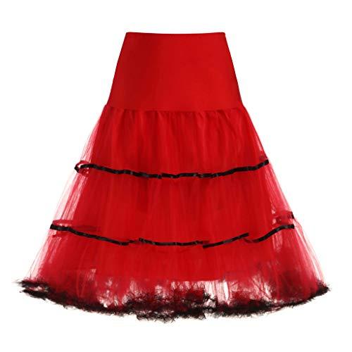 Auiyut Damen Unterrock Petticoat Underskirt Vintage Kleid Eine Größe Organza Rocken Wedding Bridal Petticoat Brautkleid Tutu Rock Knielang Brautjungfer Kleid