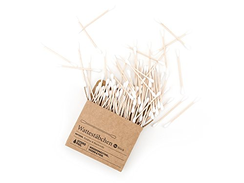 Hydrophil nachhaltige Wattestäbchen aus Bambus und Baumwolle - 2