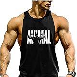 COWBI Hombres Culturismo Tirantes Camiseta Gimnasio Deportiva Gym Stringer
