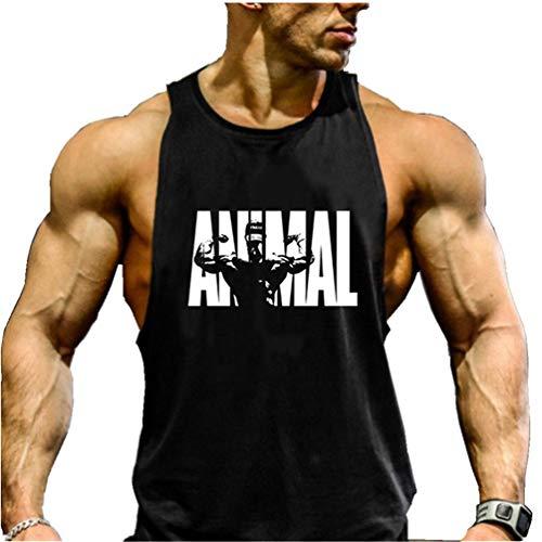 COWBI Hombres Culturismo Tirantes Camiseta Gimnasio