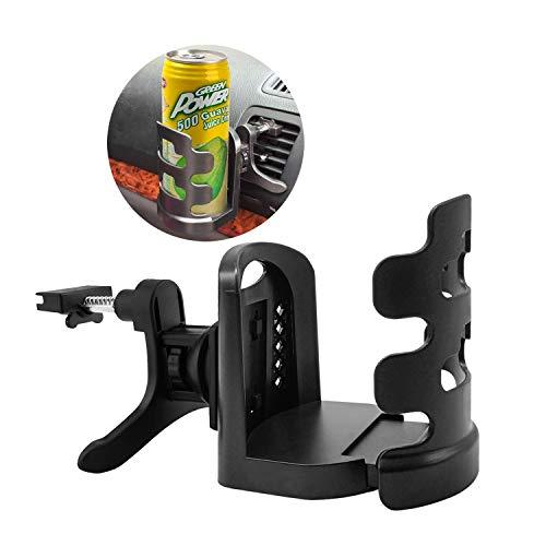 Getränkehalter Auto Einstellbar für Getränkedosen Thermobecher Kaffeetasse,ABS, für Cup Durchmesser innerhalb von 7,5 cm (Schwarz)