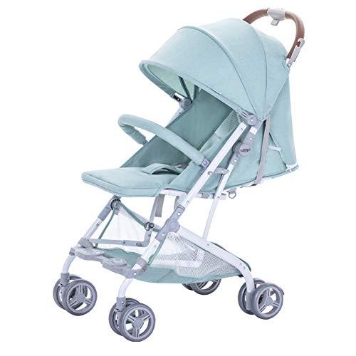 Wp.bewa Kinderwagen Reisespielzeug Für Kinder Tragbarer Puppenwagen Mit Schwenkbaren Rädern Und 5-Punkt-Sicherheitsgurt Design Faltbare Puppenwiege Für Neugeborene Kleinkinder 0-3 Jahre,B