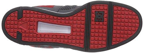 DC Shoes Ryan Villopoto, Baskets Basses Homme Gris (Grey/Black/Red)