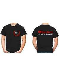 München Kranz T-Shirt | Liga | Trikot | Fanshirt | Bundes | M2-Rot