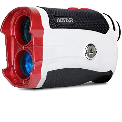 AOFAR Telemetro da Golf GX-2s Slope, 600 Yards White Range Finder, Blocco pennone, Vibrazione, 6X 25mm Impermeabile, Custodia da Trasporto, Batteria, Confezione Regalo