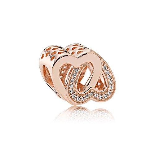 Pandora charm intreccio d'amore rose