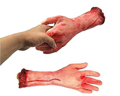 JINRU Gefälschte Menschliche Armhände Blutige Tote Körperteile Heimgesuchten Haus Halloween-Dekorationen, 2-Stücke (Links Und Rechts)