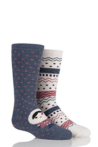 totes-girls-slipper-socks-twin-pack-eskimo-fair-isle-7-10-years