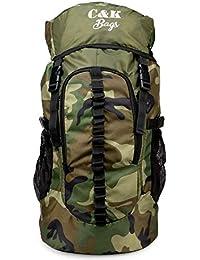 Chris & Kate Large Army Green Camouflage Bag || Travel Backpack || Outdoor Sport Camp Hiking Trekking Bag || Camping Rucksack Daypack Bag (45 litres)(CKB_186LL)
