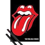Poster + Hanger: Rolling Stones Poster (91x61 cm) Zunge, Logo Inklusive Ein Paar 1art1® Posterleisten, Schwarz