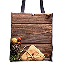 Christmas, New Year'S Eve, Postcard allover printed totes, popular totes, popular womens' tote bags, professional tote bag, large professional tote bags, best tote bags, best large tote bags