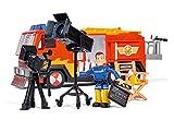 Simba 109251046 - Feuerwehrmann Sam Hollywood Jupiter Feuerwehrauto mit einer Sam Figur / mit Filmset Zubehör / SONDEREDITION / mit Licht und Sound / 28cm / mit verchromten Teilen