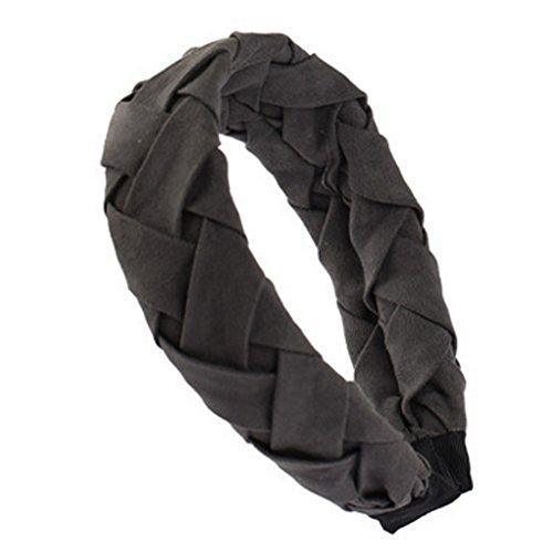 Femmes très large élégant bandeau cheveux bande Hairband accessoire, Gris