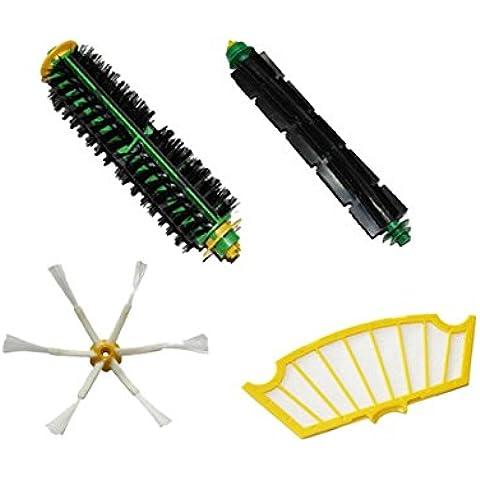 LETSDO Filtros y cepillo para iRobot Roomba 500 Serie 520 530 540 555 560 562 570 580 Kit Accesorios