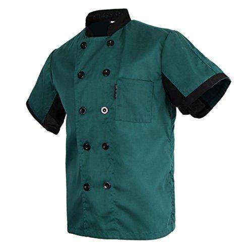 Baoblaze Donna Uomo Camicie T-shirt Giacca Cappotto da Chef Abbigliamento da  Lavoro - Verde 10d4b92116e8