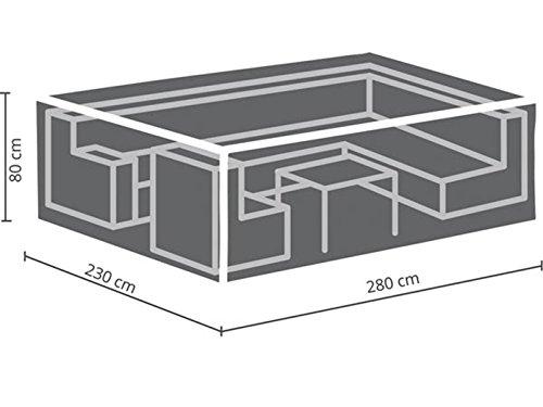 Perel Garden Ocls XL Case for Lounge Set–Black, 280x 230x 80cms