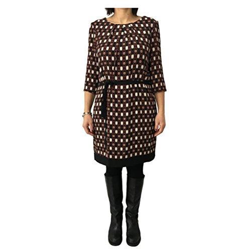 (LA FEE MARABOUTEE Kleid Frau schwarz Fantasie mod FB1084 Made in Italy - schwarz Fantasie, FR 44 - IT 48 - UK 16)