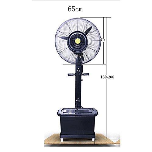 Ventilatoren MEIDUO Kühlen Sprühnebel-Fan-Zerstäubungs-Fan-Fabrik, die atomisierenden Luftbefeuchter 260W/350W/oszillierend/3 Geschwindigkeiten Stäub Schwingung Funktion (Größe : 65cm) -